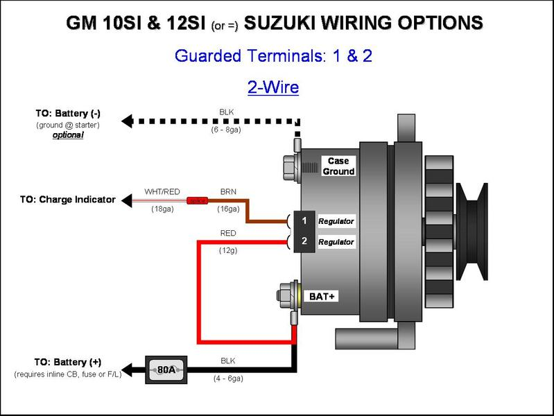 gm 10si 12si alternator wiring (2 wire) gm alternator diagrams ford 2 wire alternator wiring diagram album name gm alternator diagrams