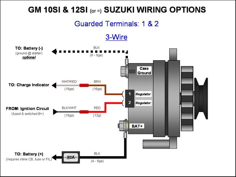 u00bb gm 10si  12si alternator wiring -  3-wire
