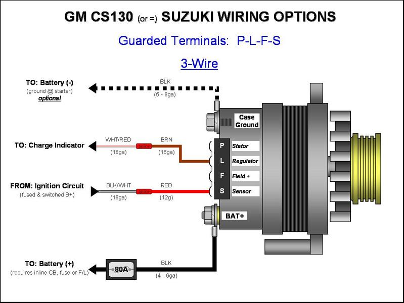 U00bb Gm Cs130  Cs144 Alternator Wiring -  Plfs  3-wire - Gm Alternator Diagrams  Cs144