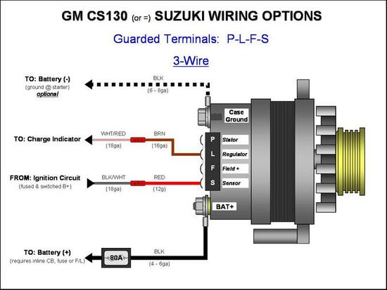 Cs130 Gm Alternator 105a    Wiring Help Please